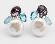 EARRINGS PEARL AND QUARTZ OEPERLACUARZO PATRICIA ARL� PATRICIA ARLÀ