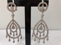 EARRINGS SILVER RHODIUM-PLATED WITH ZIRCONS 3760