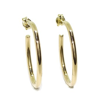 EARRINGS TYPE RING 18K YELLOW GOLD 2MM WIDE, NEVER SAY NEVER
