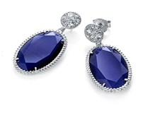 EARRING VICEROY SILVER WITH BLUE GEM 1201E000-43
