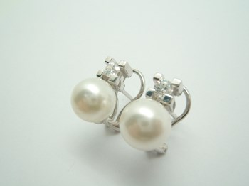 SILVER EARRINGS, YOU AND I B-79 S-42