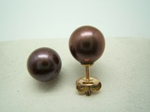 BROWN CULTURED PEARL EARRINGS