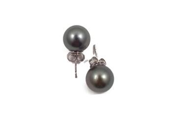 Boucles d\'oreilles perles de culture de Tahiti