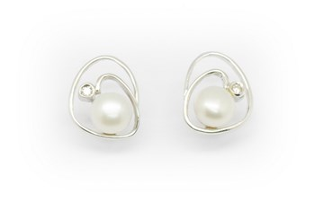 DIAMOND PEARL BOUCLES D\'OREILLES OR