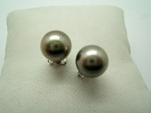 EARRINGS PEARL TAHITI