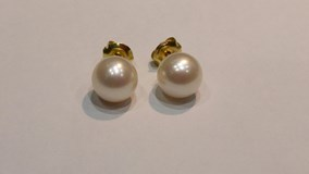 10 MM 5 PP105 PEARL EARRINGS