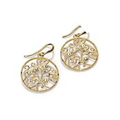 EARRINGS SILVER GOLD PLATED MRS JEWEL VICEROY 1179E100-06