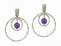 9031PT-N AMETHYST SILVER EARRINGS Marina Garcia