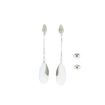 Pendientes plata con cerámica y circonitas 88E14W Stradda