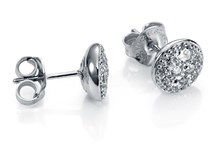 EARRINGS STERLING SILVER RHODIUM-PLATED AND ZIRCONS MRS J VICEROY 1194E000-30