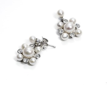 VICEROY OF PEARL SILVER EARRINGS  1105e000-60
