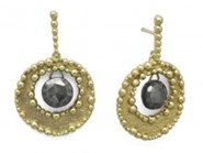 EARRINGS SILVER FIRST LAW BATH-GOLD AND PYRITE 9200PD MARINA GARCIA