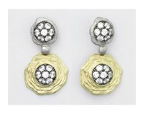EARRINGS STERLING SILVER PENDANT WITH GOLD BATH AND ZIRCONITAS 9127PD-B Marina Garcia