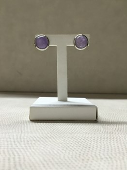 EARRINGS SILVER AND AMETHYST 000260134 Cunill