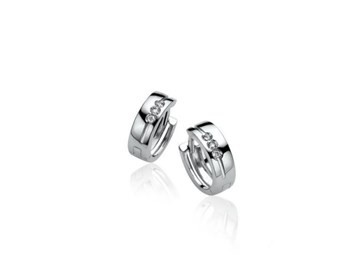 EARRINGS SILVER AND DIAMOND ZINZI ZDO387