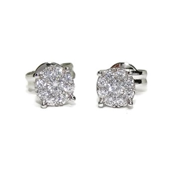 PRECIOUS EARRINGS OF WHITE GOLD OF 18KTES WITH 18 ZIRCONS OF THE BEST QUALITY. NEVER SAY NEVER