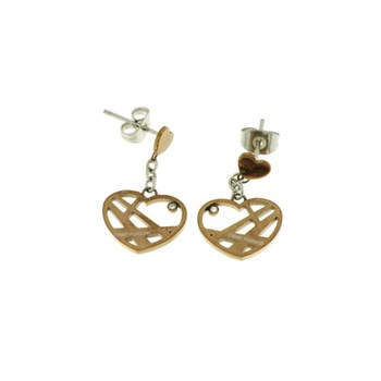 Pendientes Time Force Acero y diamantes TS5019P