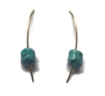 Boucles d\'oreilles turquoises
