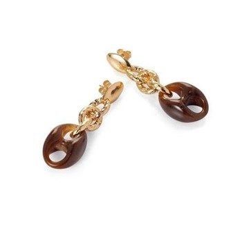 EARRING VICEROY PLATED GOLD AND ACETATE B1027E000-06