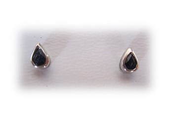 Sapphire earrings gold white 1st law