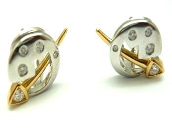 Pendientes de oro y diamantes PE3400686