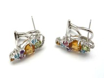 Boucles d'oreilles or, diamants et pierres naturelles PE1401827