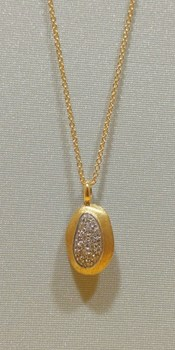 Gold Nugget NECKLACE with pave brilliant 0067 Marco Bicego