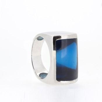 RING SILVER STONE BLUE Stradda 15S46A