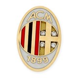 PIN BY REASON OF THE AC MILAN MADE IN YELLOW GOLD, 750 THOUSAND�SIMAS (18KT) WITH ENAMEL TEAM COLORS AND 4 BRILLIANT CUT DIAMONDS OF 0.10 KTS.