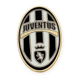 PIN WITH MOTIVE JUVENTUS MADE IN YELLOW GOLD, 750 THOUSAND�SIMAS (18KT) WITH ENAMEL TEAM COLORS