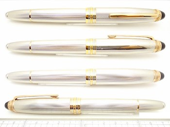 Writing pen sterling silver and gold Montblanc Limited Edition Sterling Silver 1466