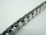 BRACELET WATCHES RIVIÈRE GOLD WHITE AND SAPPHIRES BLUE B-79  H-104