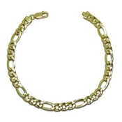 PULSEPULSERA OF 18K YELLOW GOLD FOR MAN MODEL CL�SICO 3X1 HOLLOW-21.00 CM RA NEVER SAY NEVER