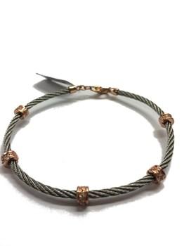Bracelet en acier et argent