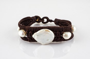 BRACELET ETHNIC WITH CULTURED PEARLS