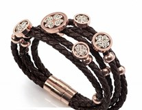 STEEL BRACELET IO PINK CRYSTALS AND SKIN-SINT MS F VICEROY 90001P09011