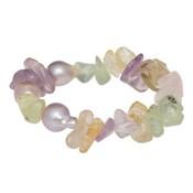 Pulsera ágatas colores perlas barrocas rosas 18-132871