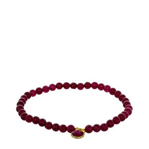 RED AGATE BRACELET AND SILVER CHARM