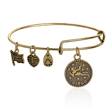 PULSERA ALEX AND ANI ENERGIA POSITIVA VIRGO DORADA