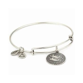 ALEX AND ANI, ENERGY BRACELET POSITIVE GEMINI SILVER GEMINIS PLATA