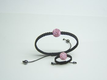 Crystal ball ring and bracelet