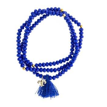 Pulsera azul marino charm lis 15-4082