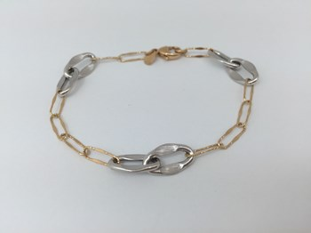 TWO-TONE BRACELET IN 18 K GOLD 1915