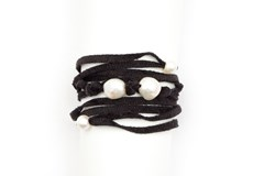Japanese chenille and cultured pearl bracelet