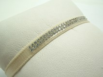 BRACELET RIBBON FRENCH WITH P-CINTA-C SWAROVSKI CRYSTAL