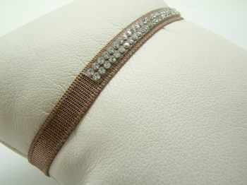 Pulsera cinta francesa con cristal Swarovski P-cinta-Ms