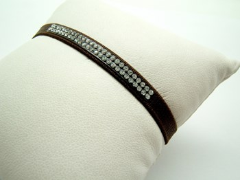 Pulsera cinta francesa con cristal Swarovski P-cinta-M