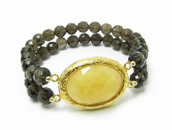 Bracelet quartz et vermeil