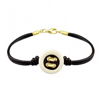 Siamo bracelet leather and button