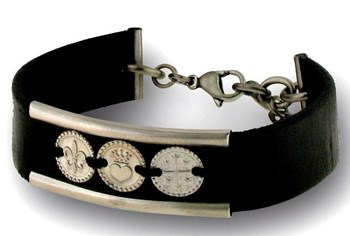 BRACELET LEATHER AND STEEL LISKA 399